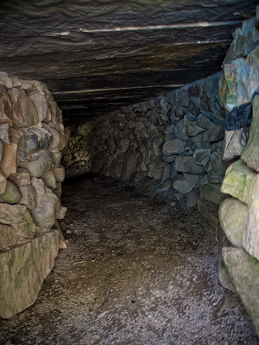 Medieval souterrain (underground tunnel), possibly used as pantry / escape route.